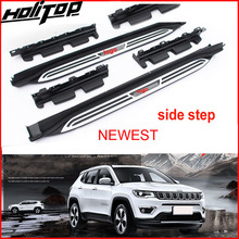 New arrival side bar side steps running board for Jeep new Compass 2017 2018 2019 2020,low profit for promotion,7 days only