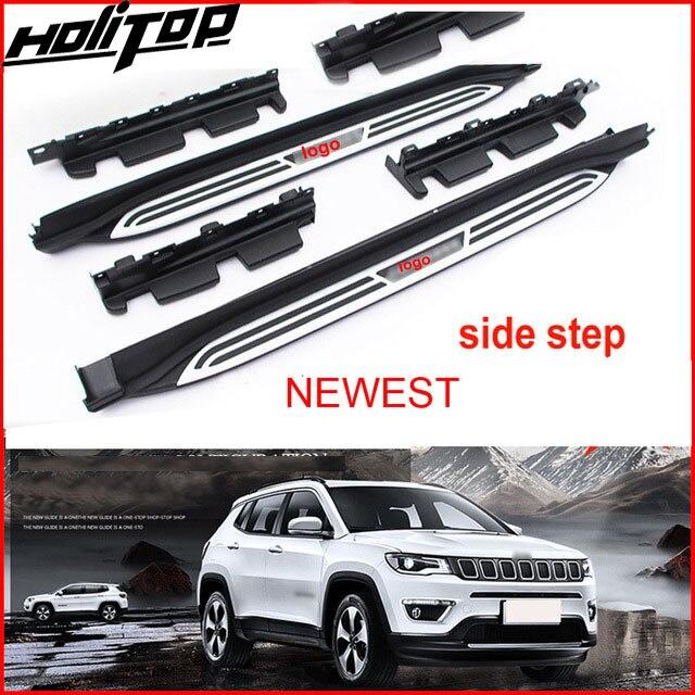 Nova chegada barra lateral passos running board para jeep nova bússola 2017 2018 2019 2020, baixo lucro para promoção, 7 dias apenas