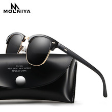 MOLNIYA Classic Polarized Sunglasses Men Women Retro Brand Designer High Quality Sun Glasses Female Male Fashion Mirror Sunglass