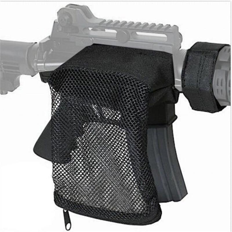 Hunting Accessories Military Gear Shooting Brass Bullet Catcher Rifle Pistol Mesh Trap Shell Catcher Wrap Around Zipper Mesh Bag