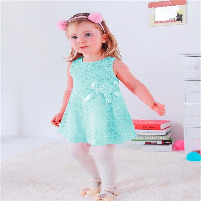 e1b1584a6 Estilo del verano vestido de partido del bebé niñas vestidos verano 2015  hola gatito muchacha del