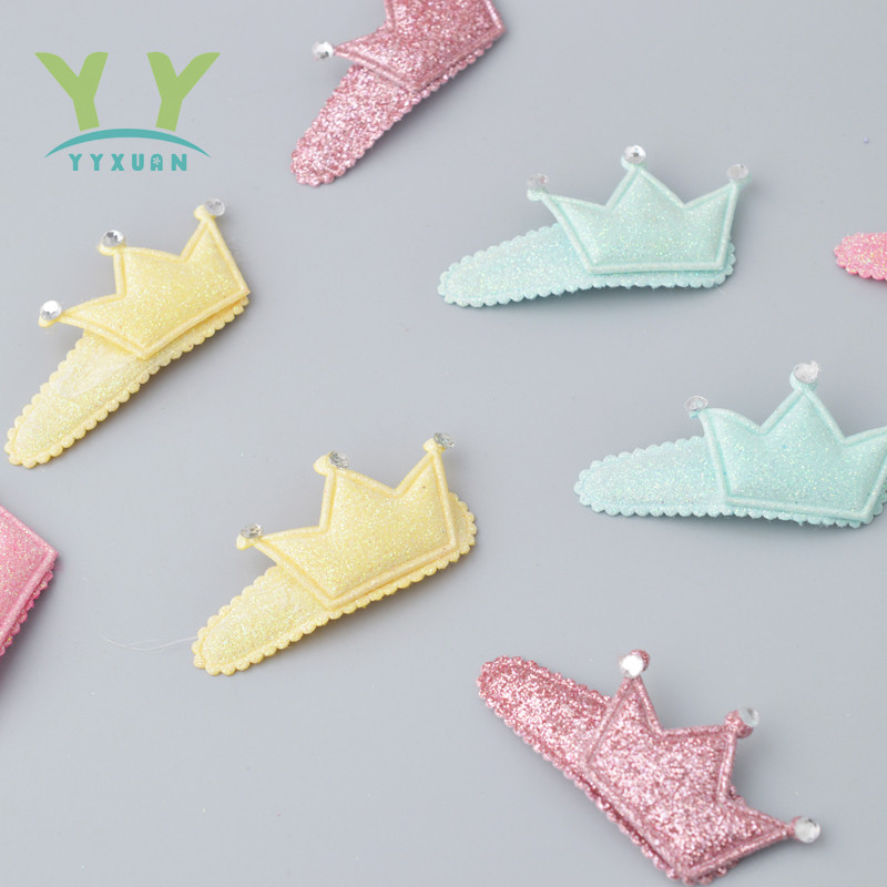 2 pieces lot Kids Hair Clips Crown Snap Clip Crystal Hairpin Barrette Hair accessories Girls Clips