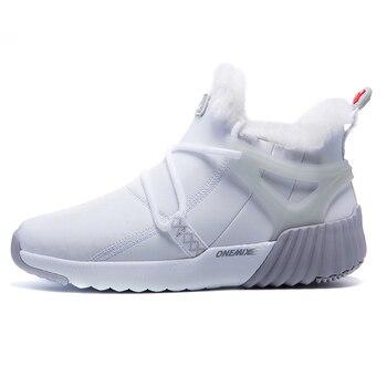 ONEMIX Winter Men's Boots Keep Warm Wool Trekking Sneakers Outdoor Unisex Mountain Waterproof Hiking Shoes Running Shoes for Man 14