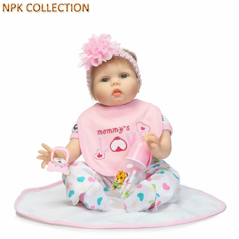 NPK COLLECTION Reborn Babies Silicone Dolls Toys for Kids Girls,20 Inch Real Doll Reborn Baby Alive Boneca Educational Toys free shipping hot sale real silicon baby dolls 55cm 22inch npk brand lifelike lovely reborn dolls babies toys for children gift