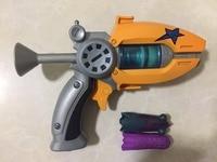 Hot Sale Cartoon Anime Slugterra Play Shot Gun Toy Give 2 Bullets 1 Slugterra Action Figure As Presents, Boy Toy Pistol Gun Gift