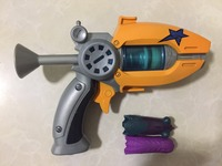 Hot Sale Cartoon Anime Slugterra Play Shot Gun Toy Give 2 Bullets 1 Slugterra Action Figure As Presents, Boy Toy Pistol Gun Gift