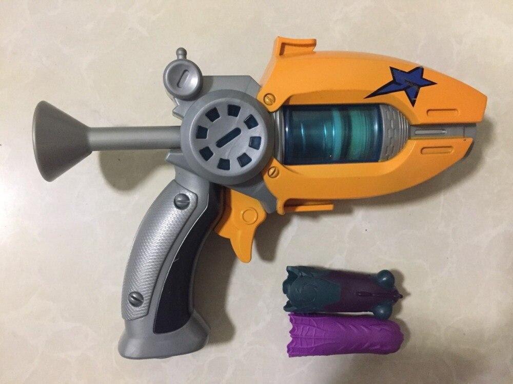 Offre spéciale dessin animé Slugterra jeu pistolet jouet donner 2 balles 1 figurine d'action Slugterra comme cadeaux, cadeau pistolet jouet garçon