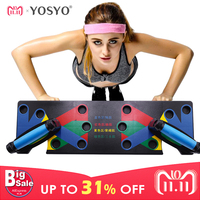 YOSYO Push Up Rack Board Men Women 9 System Comprehensive Fitness Exercise Workout Push up Stands Body Building Training GYM