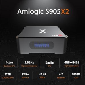 Image 2 - ビデオ録画のandroid 8.1 tvボックスA95X最大4ギガバイト64ギガバイトamlogic S905X2クアッドコアデュアル無線lan BT4.2 1000m H.265 4 18k 60pfs X2セットトップbo