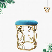 Household iron stool stainless steel bar stool dining table stool bedroom makeup stool living room shoe bench(China)