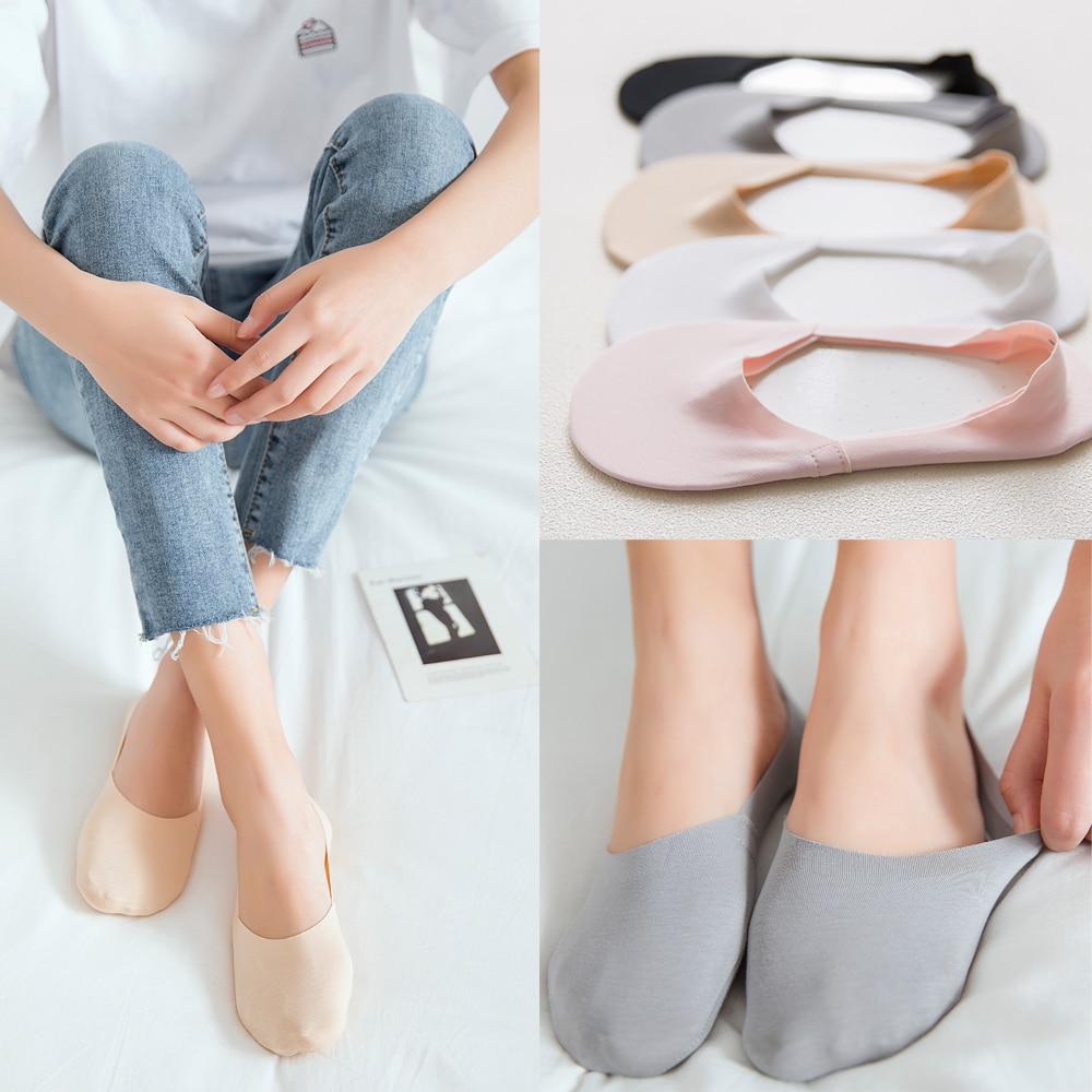1 Pair Fashion Women Summer Lace Flower Low Cut Cotton Socks Comfy Female Antiskid Invisible Ankle Socks Elastic Short Hosiery