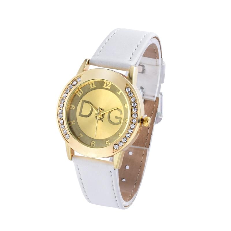 Relogio Feminino Hot Sale 2018 New Fashion Brand Leather Quartz Watch Hodinky Women Rhinestone Dress Watches Sale Reloj Mujer