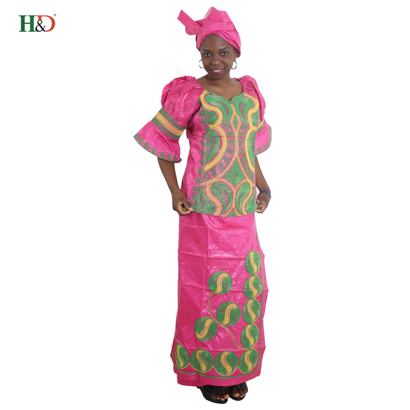 H & D Semua gaya afrika mengetuk pakaian sulaman tradisional untuk - Pakaian kebangsaan - Foto 3