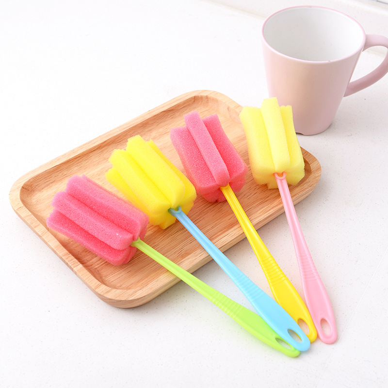 10pcs Baby High Grade Clean Sponge Child Special Bottle Brush With Handle Cleaning Washing Kitchen Utensils Brush Glass Brushes in Cleaning Brushes from Home Garden