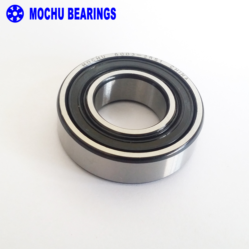 5PC 6003RS Bearing 17x35x10 mm ABEC-3 Groove 6003 RS RZ Ball Bearings 6003-2RS