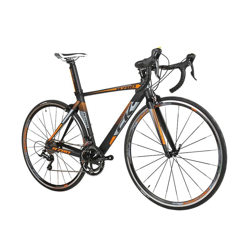 Richbit vélo de course route Ultra léger 18 vitesses 9 vitesses Cassette fourche en Fiber de carbone Shimano 3500 700c * 46/48 cm cadre vélo de route