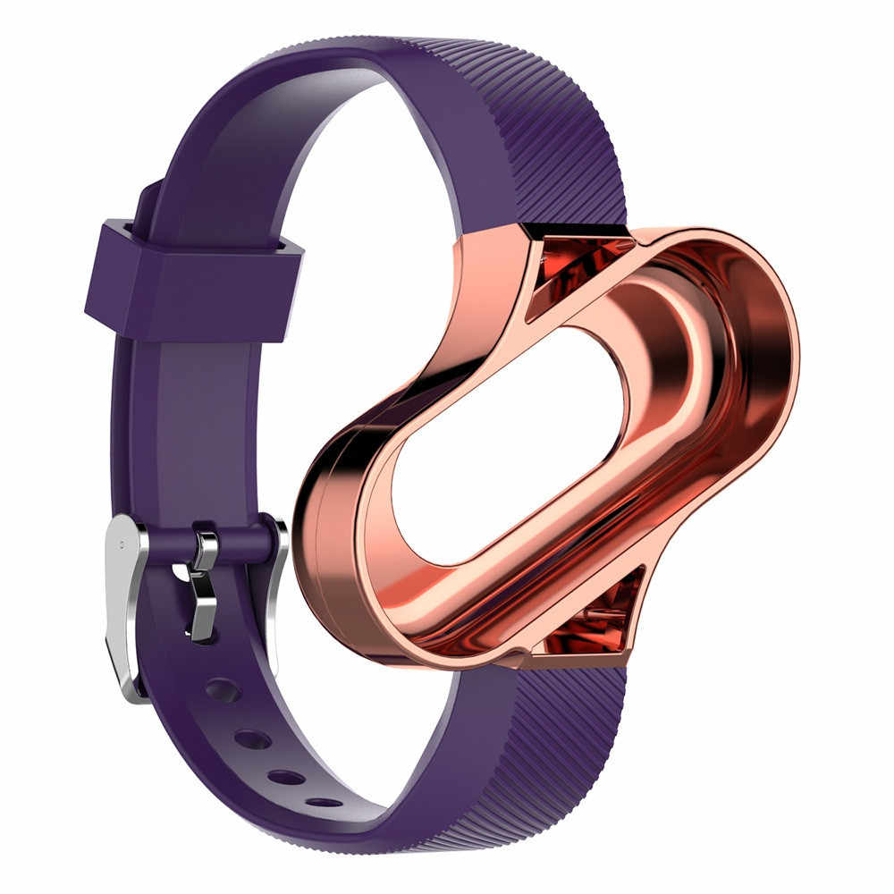 קל משקל סיליקון צמיד לשיאו mi mi Band 4 מפואר חיוג מסגרת סגנון אלכסוני קו מרקם Wriststrap שעון אבזרים