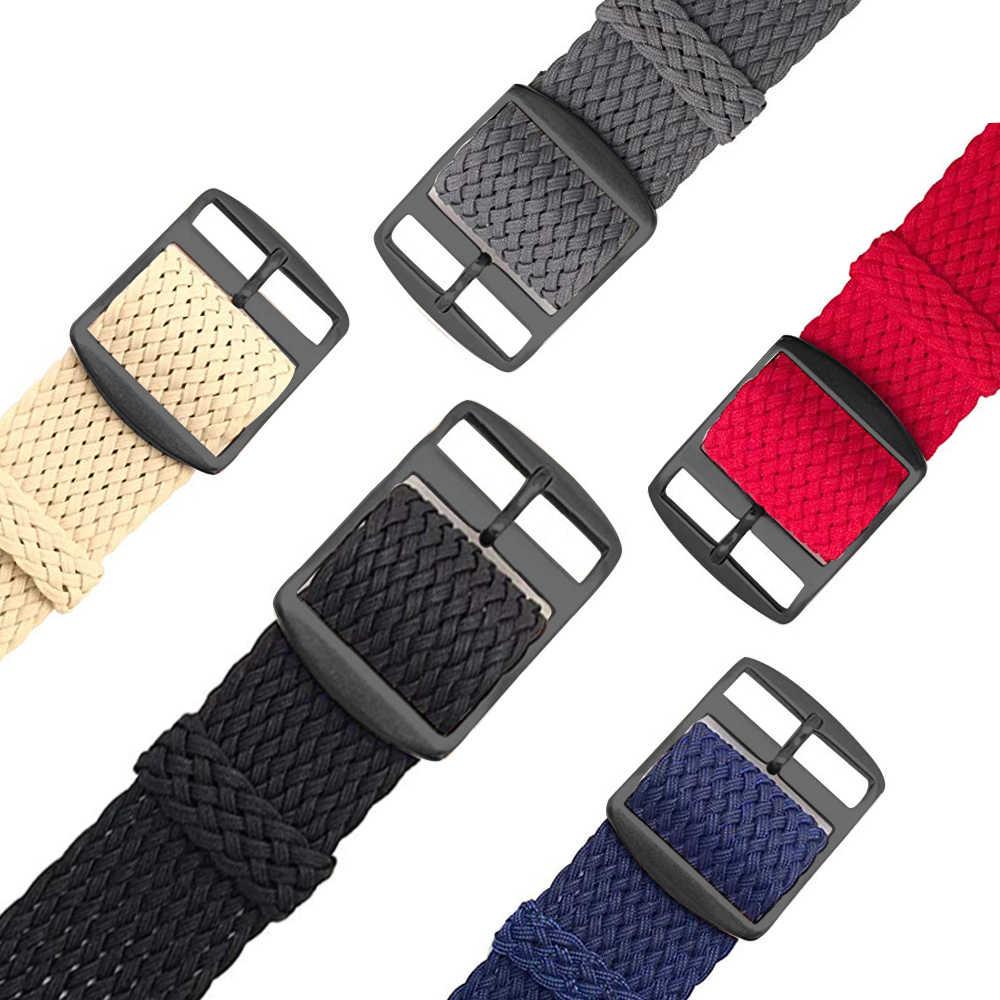 إيستر النايلون المنسوجة حزام (استيك) ساعة الملونة استبدال مشبك 22 مللي متر حزام ل Huami Amazfit تيرة سوار ل Amazfit تيرة ستراتوس 2