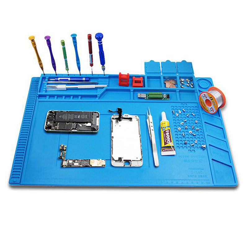 45x30cm Heat Insulation Silicone Pad Desk Mat Maintenance Platform for BGA Soldering Repair Station with Magnetic Section 2 in 1 heat insulation silicone soldering pad desk mat maintenance platform for bga soldering repair station