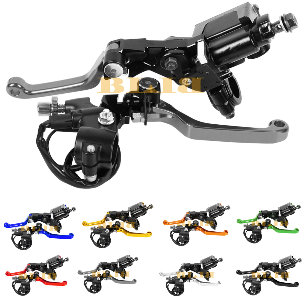 Universal For Suzuki LTZ 400 450 2006 - 2009 CNC Motocross Off Road Clutch Brake Master Cylinder Reservoir Levers Hot 2008 2007 цены