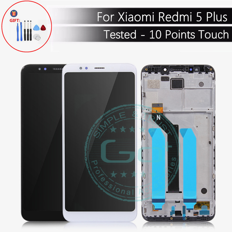 Voor Xiaomi Redmi 5 Plus Lcd scherm + Frame 10 Punten Touch Screen Redmi 5 Plus Lcd scherm Digitizer Panel vervangende Onderdelen-in LCD's voor mobiele telefoons van Mobiele telefoons & telecommunicatie op AliExpress - 11.11_Dubbel 11Vrijgezellendag 1
