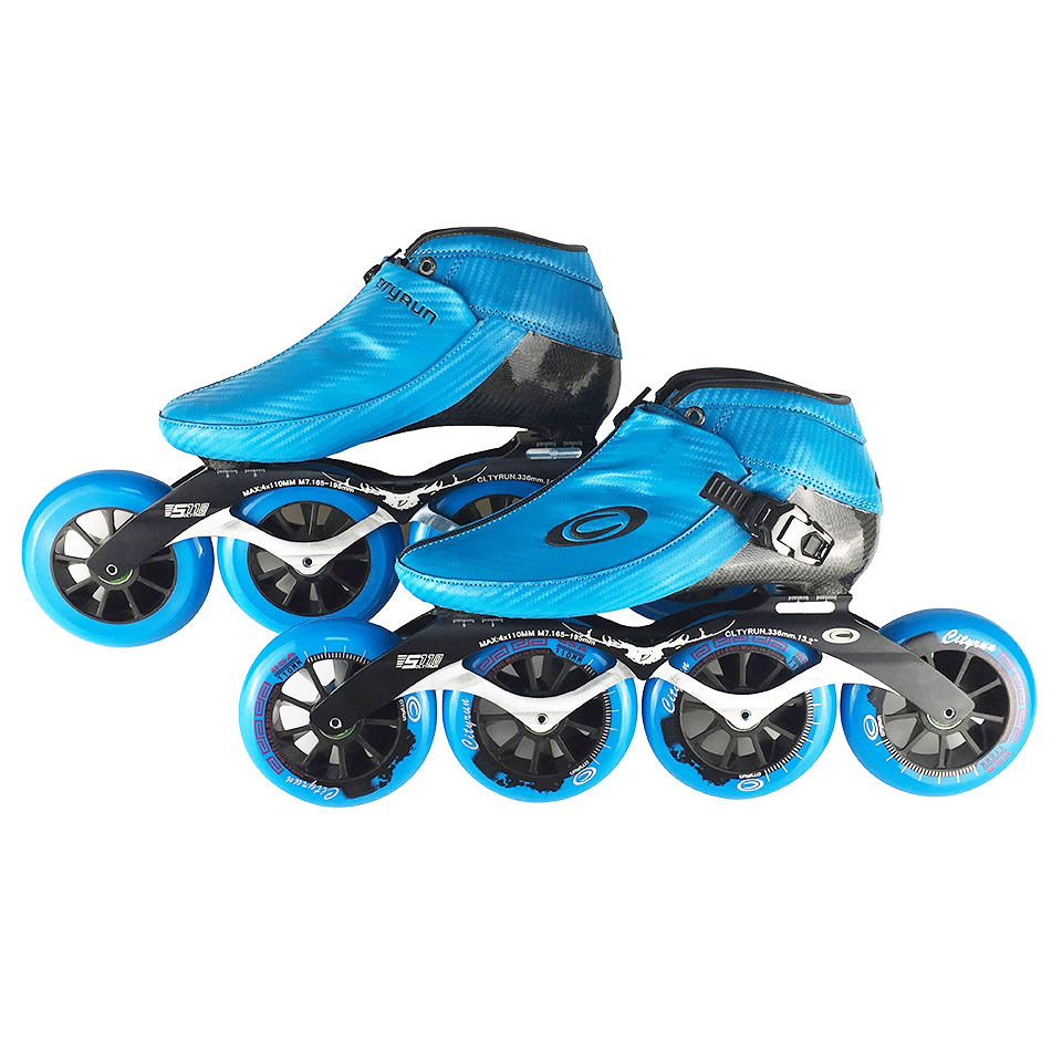D'origine Cityrun Vitesse Inline Patins En Fiber De Carbone Professionnel Concurrence Patins 4 Roues Course De Patinage Patins Powerslide F041