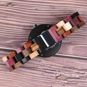 Image 4 - BOBO oiseau montre à Quartz hommes reloj mujer Elk gravure en bois femmes montres en bois boîte relogio masculino grand cadeau pour amoureux