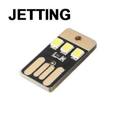 Practical Pocket Card Lamp Bulb Led Keychain Novetly Mini LED Lighting Portable USB Power White 1PC