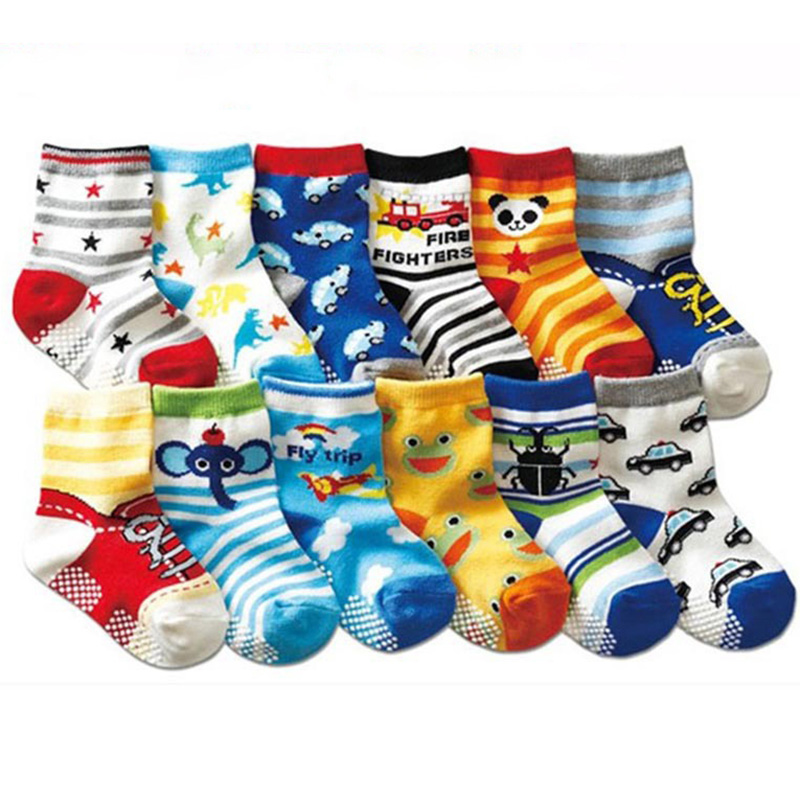Baby Hosiery Kid Socks 20pc=10pairs Baby Socks Anti Slip Character Cotton Socks Novelty Shoe Gifts For Baby Boy And Girl Slipper