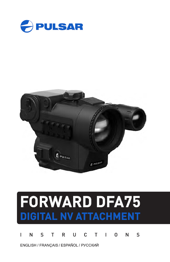 High quality Pulsar 78114  DIGITAL FORWARD DFA75 NIGHT VISION SIGHT  Easy conversion of a day sight into a night vision with IR pulsar часы pulsar pw5001x1 коллекция easy style