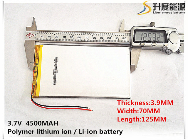 1pcs [SD] 3.7V,4500mAH,[3970125] [4070125]Polymer lithium ion / Li-ion battery for TOY,POWER BANK,GPS,mp3,mp4,cell phone,speaker