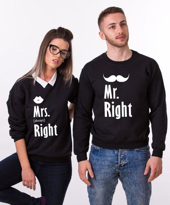 Mr And Mrs Sweatshirts Couples Clothing Hubby Wifey Sweatshirt Outfit Newlywed Gift Hoodies