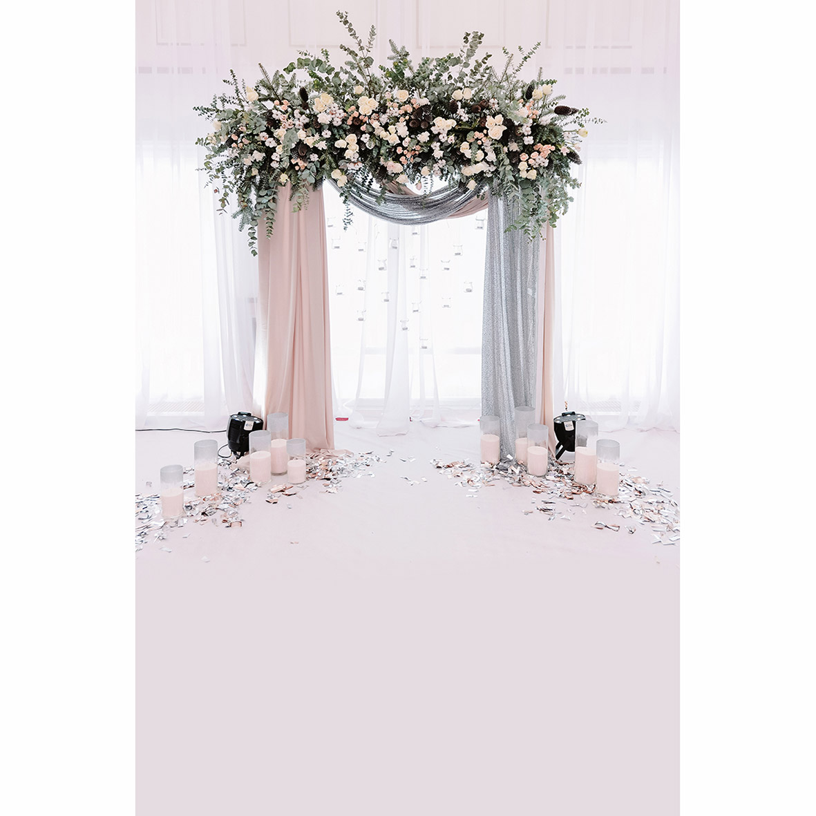 Allenjoy photography backdrop beautiful wedding archway flowers ...