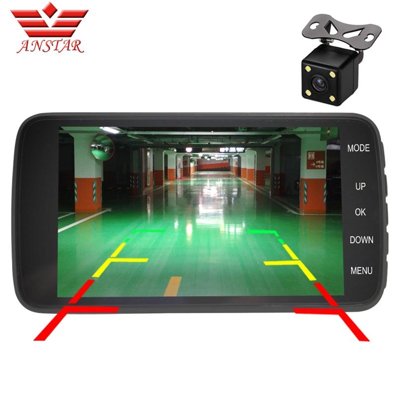 ФОТО ANSTAR 4 Inch CAR DVR Video Camera Recorder Dash Cam Parking Assistance 1080P HD Dual Camera Blackbox Automobile DVRs Camcorder