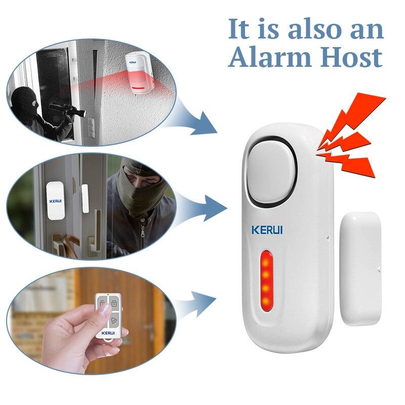 KERUI Home Security Drahtlose Tür Sensor Alarm 433MHz Batterie Netzteil Intelligente Led-anzeige Türen Windows Schutzpatron