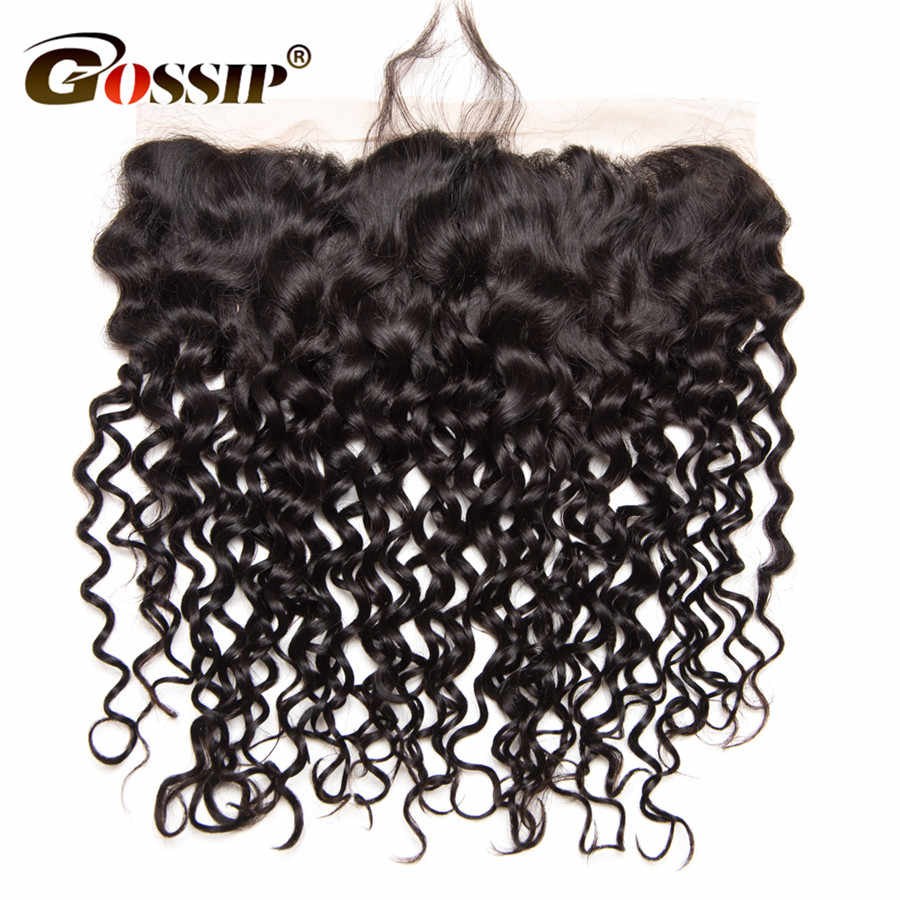 "Gossip Hair Water Wave Pre Plucked Frontal 100% Human Hair Closure Brazilian Water Wave 13x4"" Lace Frontal Closure Remy Hair"