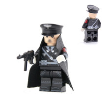 HOT Military WW2 German Soldier Officer Helmet Cap Weapon box Building Blocks Bricks Toys Compatible LegoINGlys Army Accessories(China)