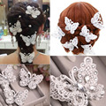 Hair accessories bridal jewelry lace micro butterfly hairpin wedding jewelry for women