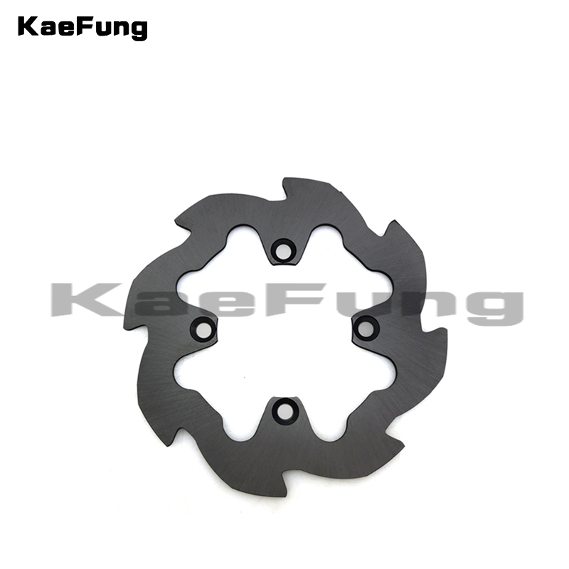 motorcycl pit dirt bike <font><b>200mm</b></font> Stainless steel Rear disc brake disc disk plate <font><b>rotor</b></font> for 100cc 125cc 140c Pit bike Mini motocross image