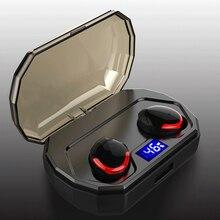 Mini Bluetooth Wireless Earphone TWS Touch Control IPX8 Waterproof Earphones HiFi Stereo Headset with Charging Box