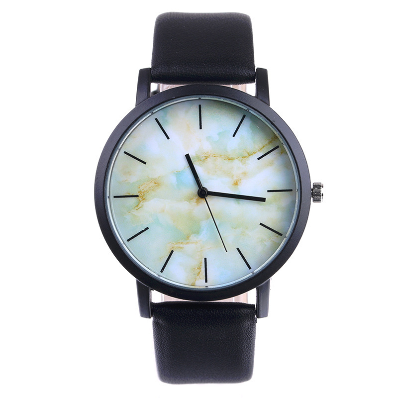 Low Price Relogio Fashion Marble Style Ladies Watches Sport Casual Leather Strap Men Women Quartz Watch High Quality Clock