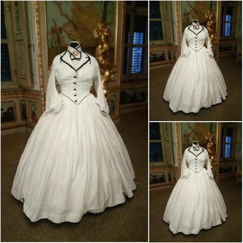 Victorian Corset Gothic Civil War Southern Belle Ball Gown Dress Halloween Dresses Us 4 16 V 7 Victorian Corset Dresses Belle Dresssouthern Belle Dresses Aliexpress
