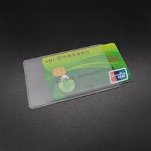 Wodoodporna przezroczysta pokrywa karty PVC silikonowa plastikowa kartka etui do ochrony kart kredytowych Porte carte Bank dowód osobisty rękaw tanie tanio Posiadacze kart IDENTYFIKATOROWYCH Karta kredytowa 6 cm Pokrowce PCV na karty kredytowe karty kredytowej legitymacji posiadacza wizy karty Case Bus
