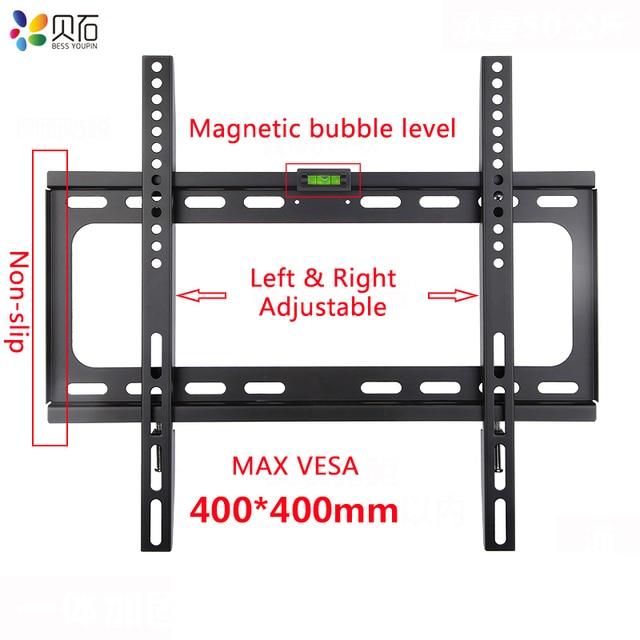 Soporte de montaje en pared Universal para TV, para la mayoría de soportes de TV LED de Plasma de 26 55 pulgadas de hasta VESA 400x400mm y 110 LBS de capacidad de carga
