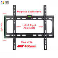 Universal TV Wall Mount Bracket for Most 26-55 Inch LED Plasma TV Mount up to VESA 400x400mm and 110 LBS Loading Capacity