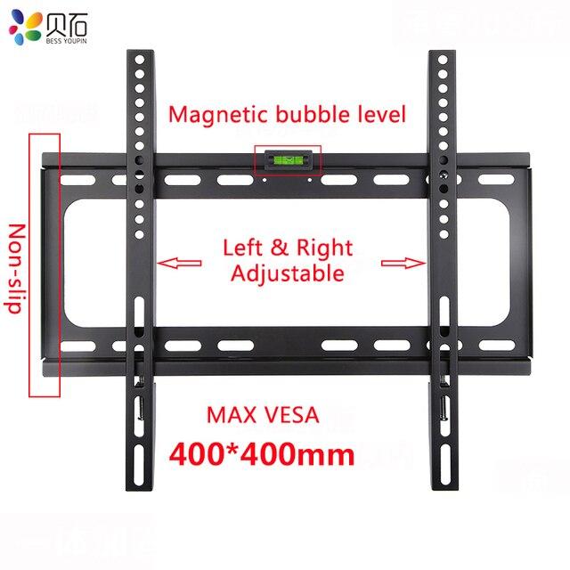 Universal TV Wand Halterung für Die Meisten 26 55 Zoll LED Plasma TV Halterung bis zu VESA 400x400mm und 110 £ Laden Kapazität