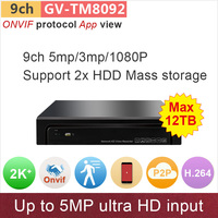 H 264 ONVIF NVR 9ch 8ch DVR 5mp 4mp 3mp 1080P Input Network Video Surveillance Cctv
