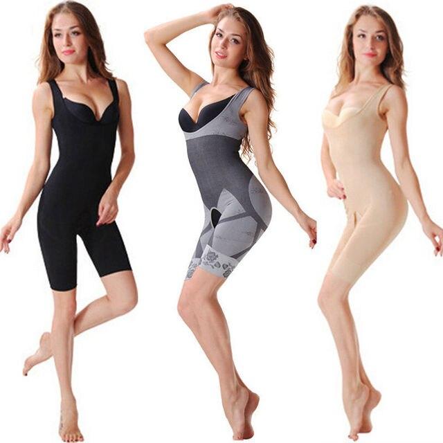 7acebafb2cbc3 Bodysuit Body Shaper Underwears Bamboo Fiber Magic Slim Beauty Underwear  Gen Bamboo Charcoal Slimming Suits Pants Bra
