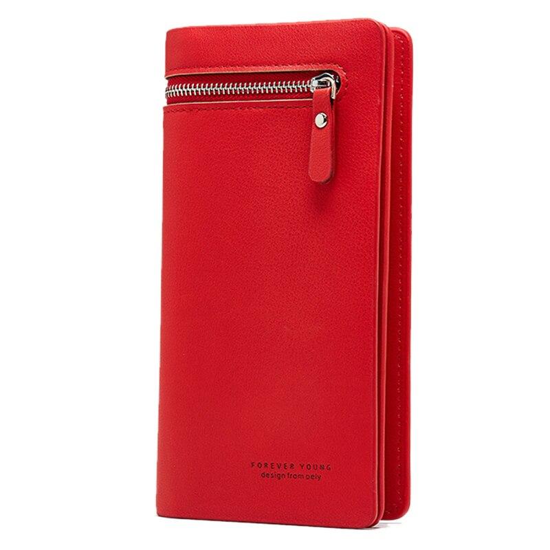 Wallet Female PU Leather Wallet Women's Clutch Leisure Purse Red Pink Style Women Wallets Long Coin Purse Card Holders Carteras