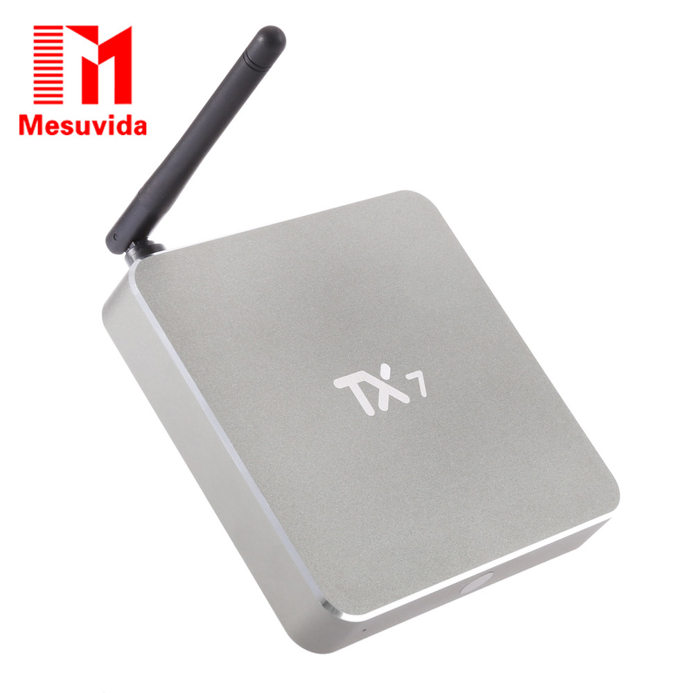 Mesuvida TX7 Smart Android 6.0 TV Box Amlogic S905X Quad Core Dual Band WiFi 2.4GHz+5GHz Bluetooth 4.0 Mini PC Kdi 16.1 TV Bov askent s 7 1 tx